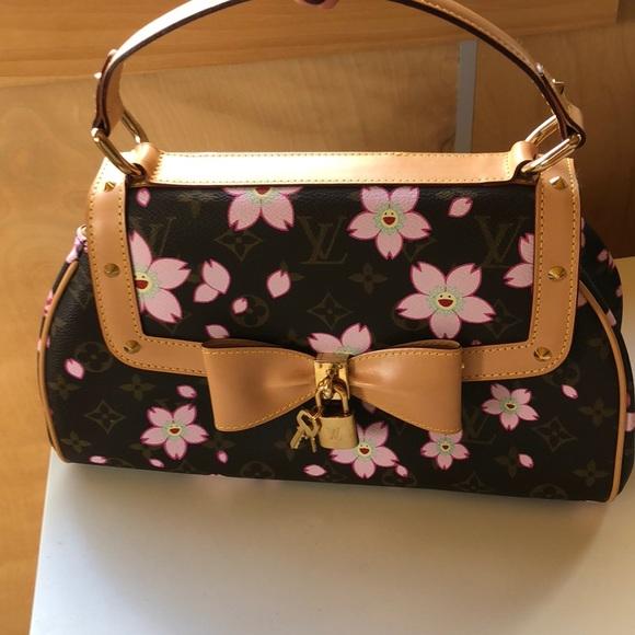 2befe8bff90f Louis Vuitton cherry Blossom Murakami Retro Sac